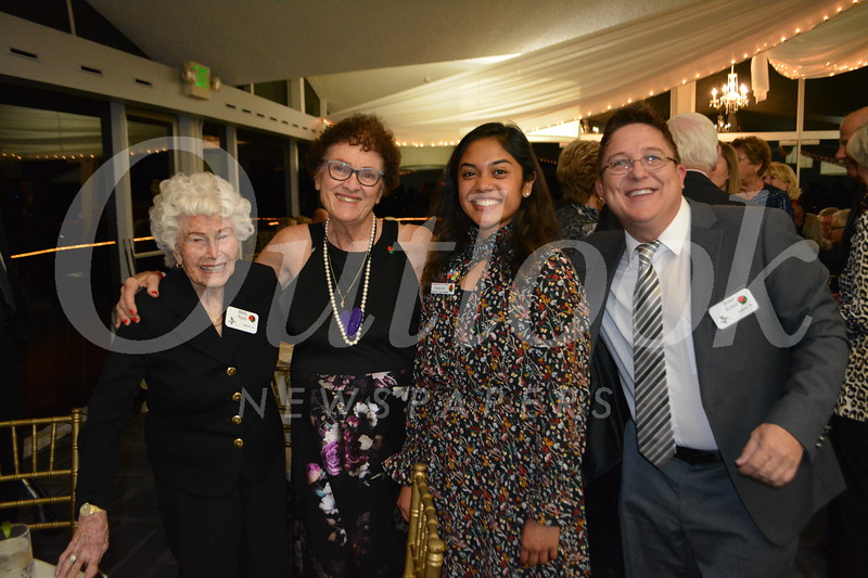 Betty Ryan, Harriet Hammonds, Princess Rukan Saif and Brian Echer