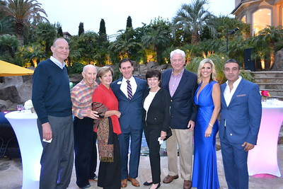 Neal Brockmeyer, Bill and Laura Olhasso, Tyler Wright, Sandy and Fred Engler, and Sandy and Mike Kobeissi
