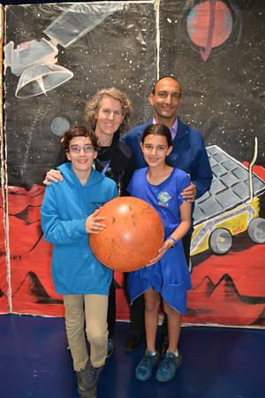 LC District Science Coorinator Dr Amy Nespor with her family Neil Dahya and children Aidan and Alyssa Dahya   502
