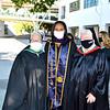 Sister Celeste Botello FSHA Principal, Commencement Speaker Drew Washington class or 2012 and Sister Carolyn McCormack President 142