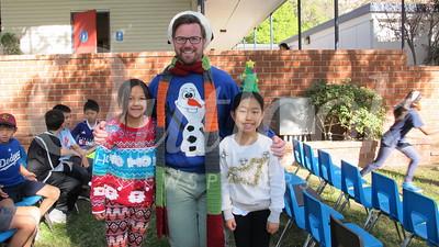 14 Erica Fan, teacher Greg Hardash and Miki Hong