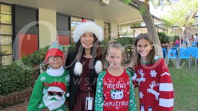 07 Arthur Cervantes, teacher Sandra Hong, Molly Gross and Avery Fearing