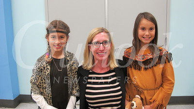 14 Ava Amin, principal Emily Blaney and Kendall Short