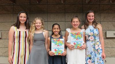 03 Isabelle Risha, Emma Swan, Sharani Bhattacharya, Rosie Miller and Kaitlyn Creighton