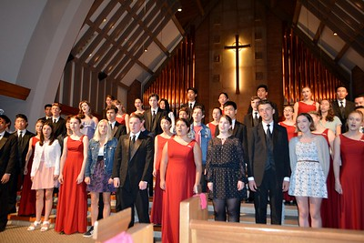 Next years' Chamber Singers announced and invited to sing LCHS School Alma Mater  025
