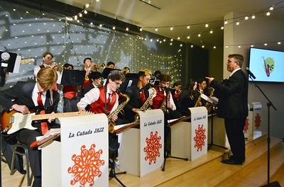 Jason Stone directiong the LCHS Jazz Band 486