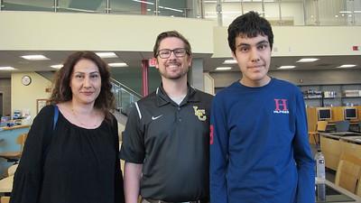 05 Farzaneh Hemmati, teacher Bill Lively and Reza Hemmati