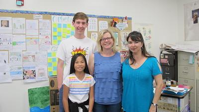 15 Adin and Liv Rysdal, Stephanie Fossen and teacher Monique Willshire