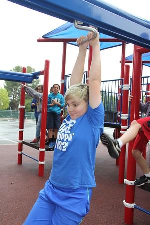 5828 Owen Mercer tries out the zipline