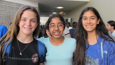 12 Kira DeBreto, Srijani Bhattacharya and Mia Macias