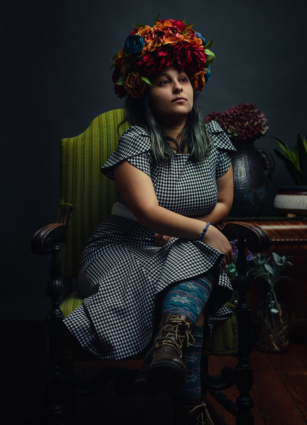 Jessica Galaviz, creator of the beautiful head piece for this shoot.