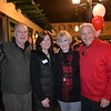 Woody and Mayor Terry Walker with Lynne and Joe Thompson