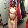 LHS student Brina Carter models a dress.
