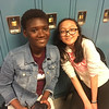 LHS students Zainab Sesay and Youvanny Tim