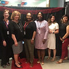 From left, Middlesex Community College's Maria Cunha of Lowell, and LHS staff members Dr. Roxane Howe of Lowell, Head of School Marianne Busteed of Chelmsford, Shoni DiFranseco of Fitchburg, Yvette Crowell of Lowell, Nicole Bedard of Dracut, Malinda Koy of Lowell and Sue Francisco of Hudson, N.H.