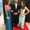 LHS student models, from left, Chantelle Perez, Diego Pena and Valentina Florez