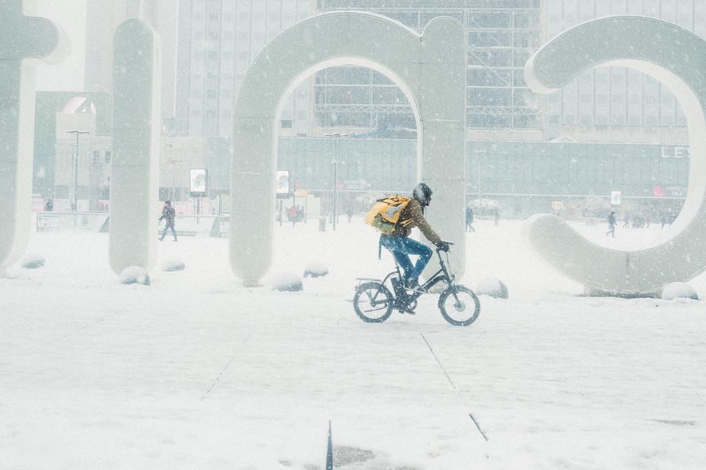 La Défense sous la neige