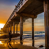 """Scripps Surfer At Sunset"""