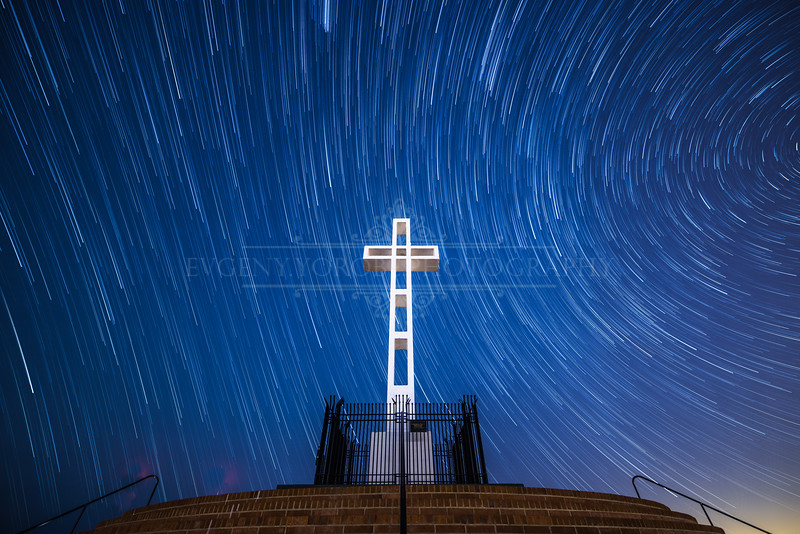 Star Trails Over The Mt. Soledad Cross