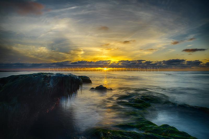 La Jolla Reefs At Sunset