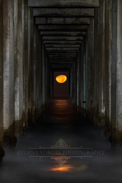 """""""Moonset At Scripps"""""""