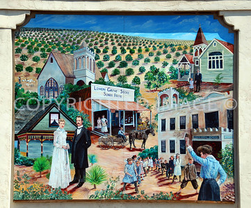 3308 Main Street, Lemon Grove, CA - 1912 Sonka Brothers General Store Mural depicting California history