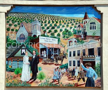 3308 Main Street, Lemon Grove, CA - 1912 Sonka Brothers General Store Mural depicting California history