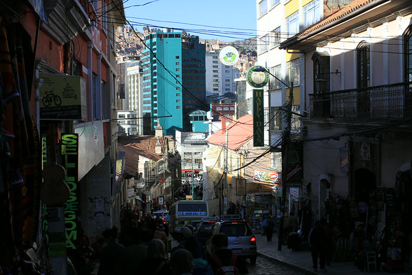 Busy tourist streets
