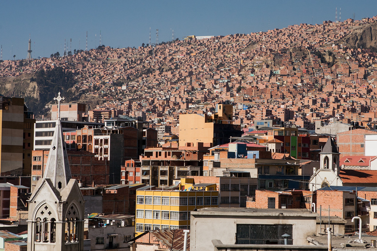 View of the city of La Paz city, Bolivia