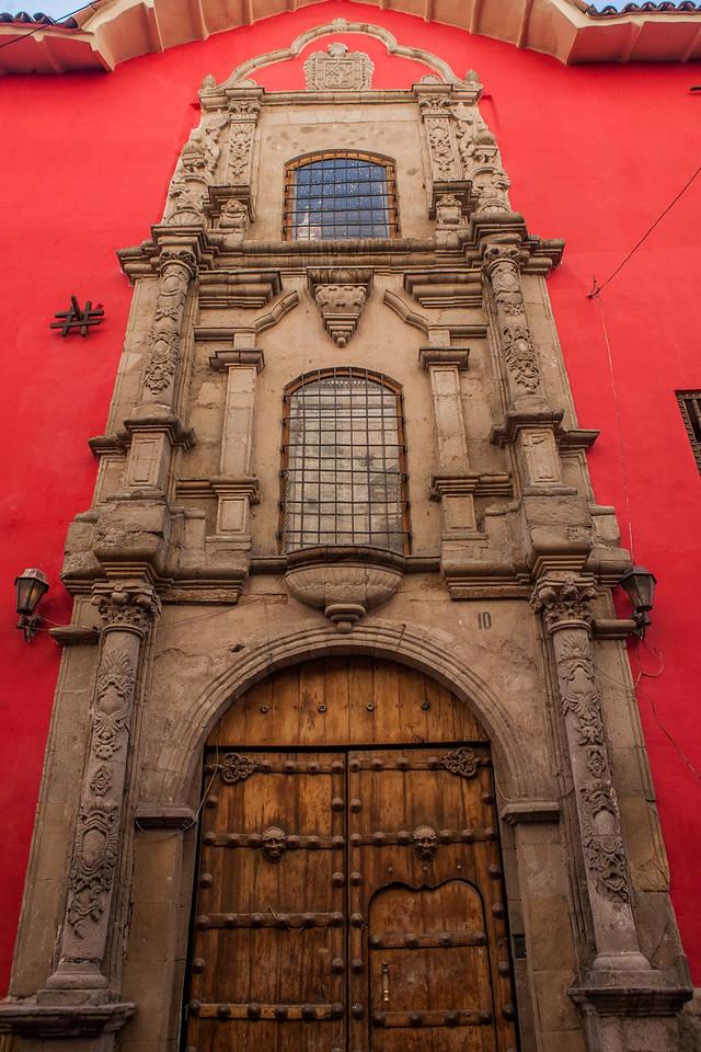 Colourful building in La Paz, Bolivia