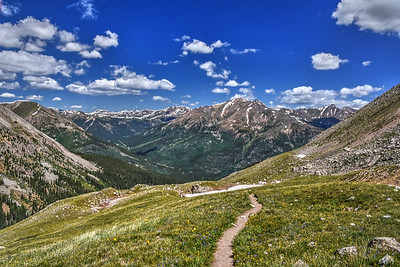 Trail down from La Plata Peak, Colorado