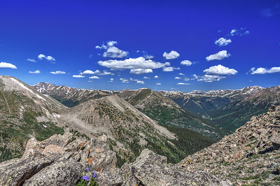 View from trail to La Plata Peak, Colorado Mountains