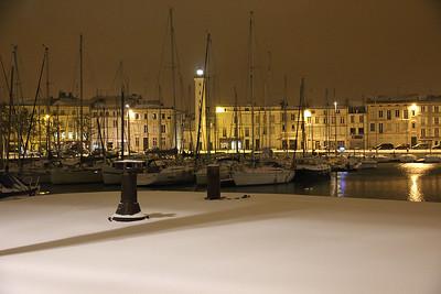 La Rochelle neige  dim 5 Fevrier