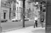 Lafayette Avenue seen from Clinton.  Vanderbilt crosses in the background.