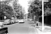 Looking east down Willoughby Avenue  from Vanderbilt.  That car on the left was an antique even in 1960.