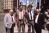 Bro. Anselm of Jesus, Matt White, Tom Moore, Irving Valiente.  Outside Nativity Church.