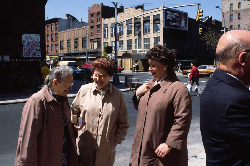 L-R: Mom (Mrs. Cullinan), Helen  Murphy, Maureen Murphy.  On 2nd Street, just east of 2nd Avenue.