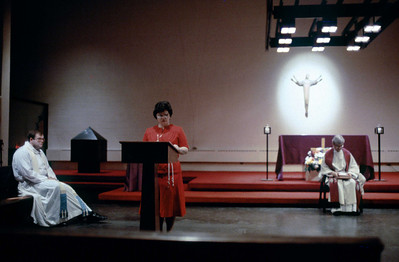 Mass in honor  of St Miguel in Nativity Church, December 1, 1984