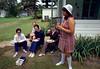 L-R: ?, Mom, Sr. Christine, Anne McTighe, Sylvia Romero.