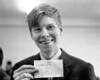 John Caulfield with his winning ticket.