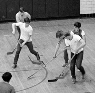 #14. December - Dance Committee, Intramural Hockey, Yearbook.