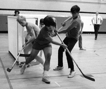 #41. November -- Intramural hockey. (Jose Ballester, photog.)