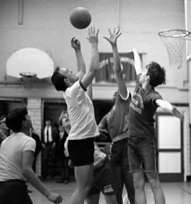 #54. March 9 -- Baseball practice, Intramural basketball -- faculty vs students.