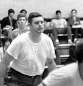 #09. October 28 -- Senior-Junior-Faculty basketball match. (Jose Ballesteros, photog.)