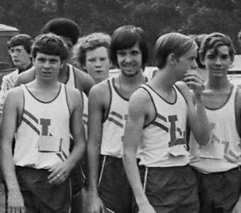 Cross-country meet.  Date: around October.  <small>Shot by one of the brothers.</small>