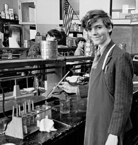 Jan. 1972. Mr Mack & gang, Miss Romero & friends, Chem lab, Cardinal