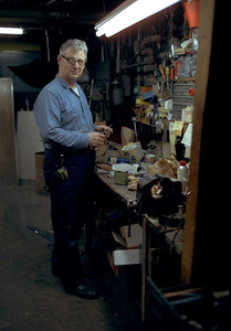 Mr. Steve Reilly at his workbench