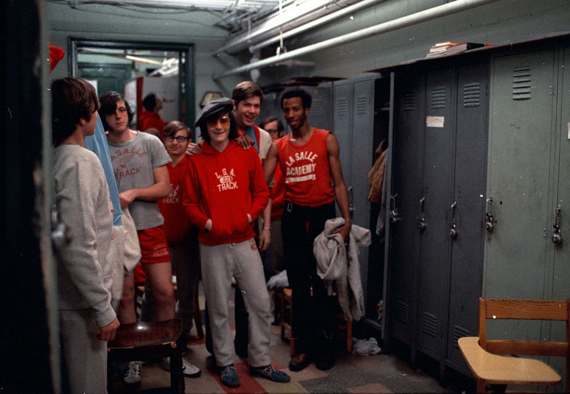 The boys at the track lockers