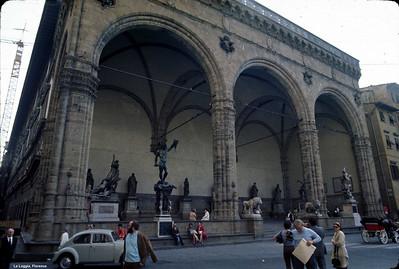 Florence - The Palazzo Vecchio and the Loggia