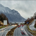 Road from Montreux  -  swiss